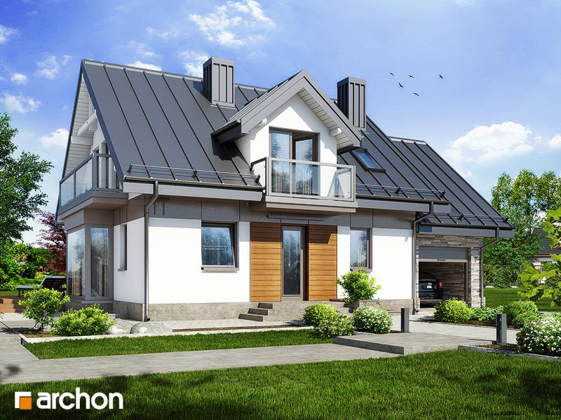 Проект будинку ARCHON+ Будинок в рододендронах 6 (П) стилізація 3