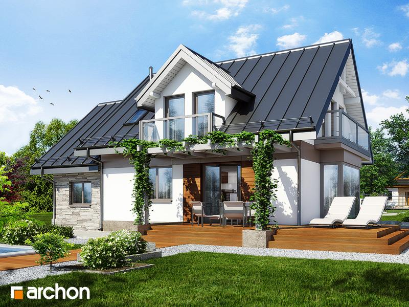 Проект будинку ARCHON+ Будинок в рододендронах 6 (П) стилізація 4