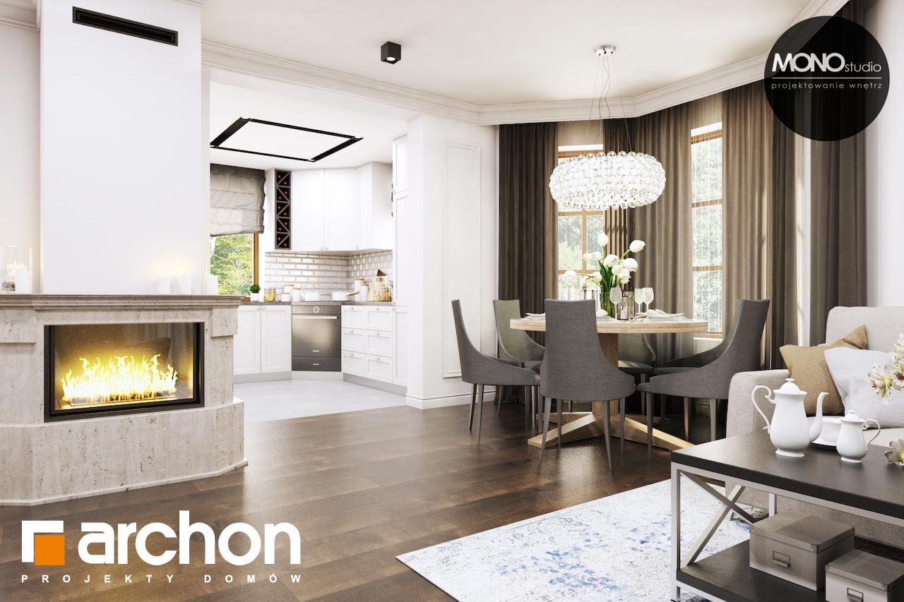 Проект будинку ARCHON+ Будинок в рододендронах 6 (П) денна зона (візуалізація 1 від 4)