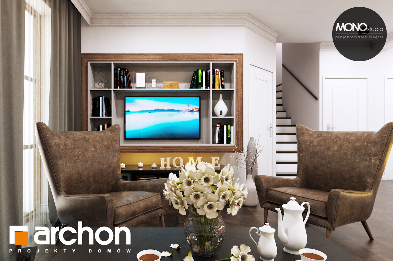 Проект будинку ARCHON+ Будинок в рододендронах 6 (П) денна зона (візуалізація 1 від 8)