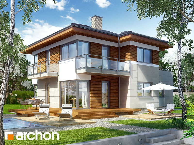 Проект будинку ARCHON+ Вілла Ірма Вид 1