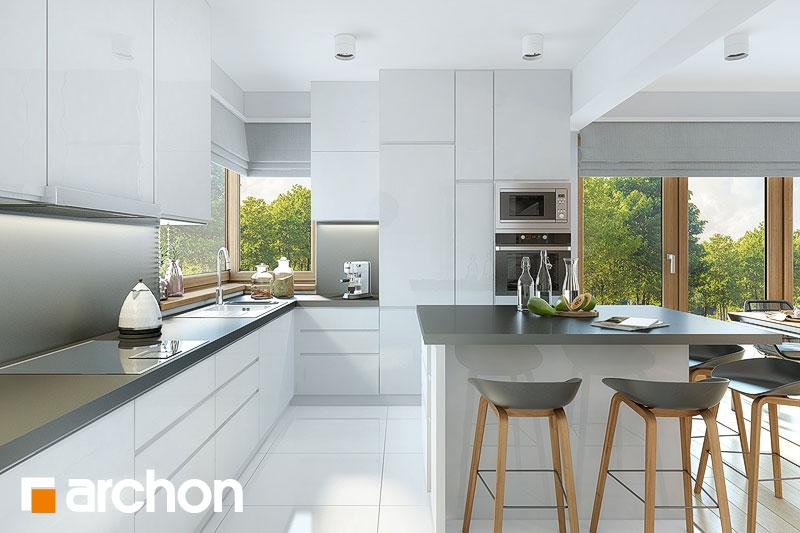 Проект будинку ARCHON+ Будинок в брунерах (Г2) візуалізація кухні 1 від 2