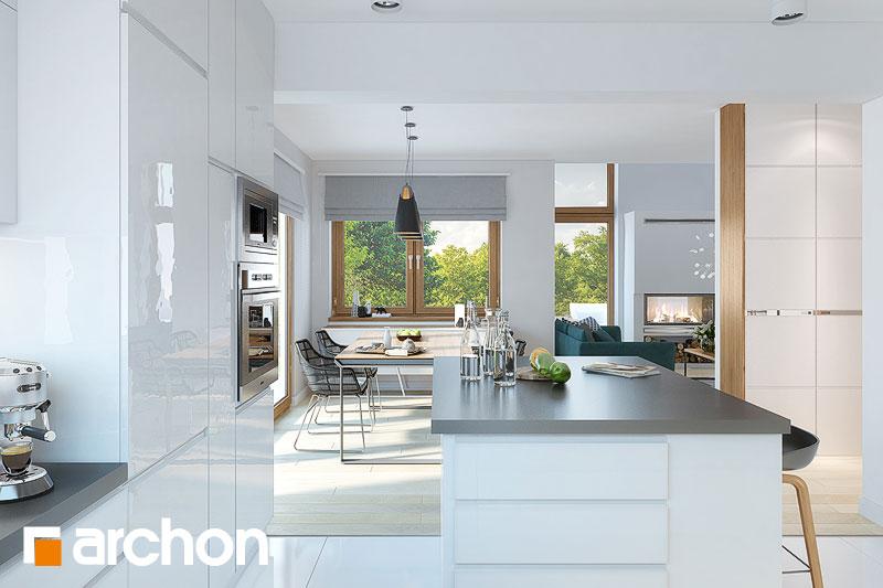Проект будинку ARCHON+ Будинок в брунерах (Г2) візуалізація кухні 1 від 3