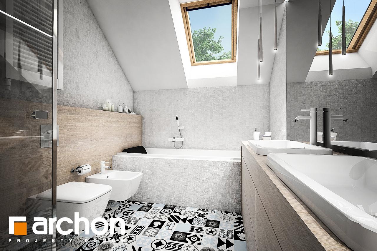 Проект будинку ARCHON+ Будинок в брунерах (Г2) візуалізація ванни (візуалізація 3 від 1)