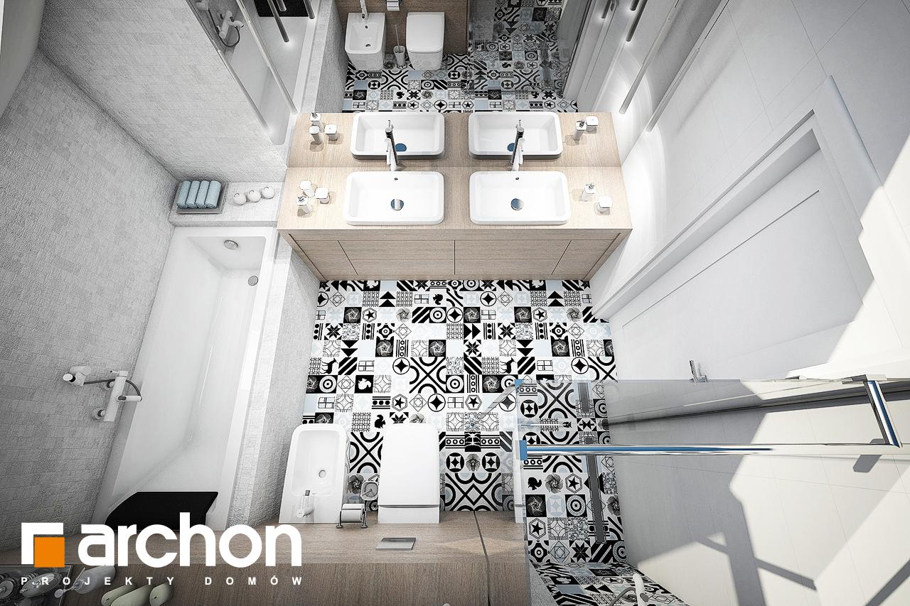 Проект будинку ARCHON+ Будинок в брунерах (Г2) візуалізація ванни (візуалізація 3 від 4)