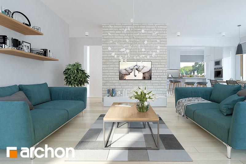 Проект будинку ARCHON+ Будинок в брунерах (Г2) денна зона (візуалізація 1 від 2)