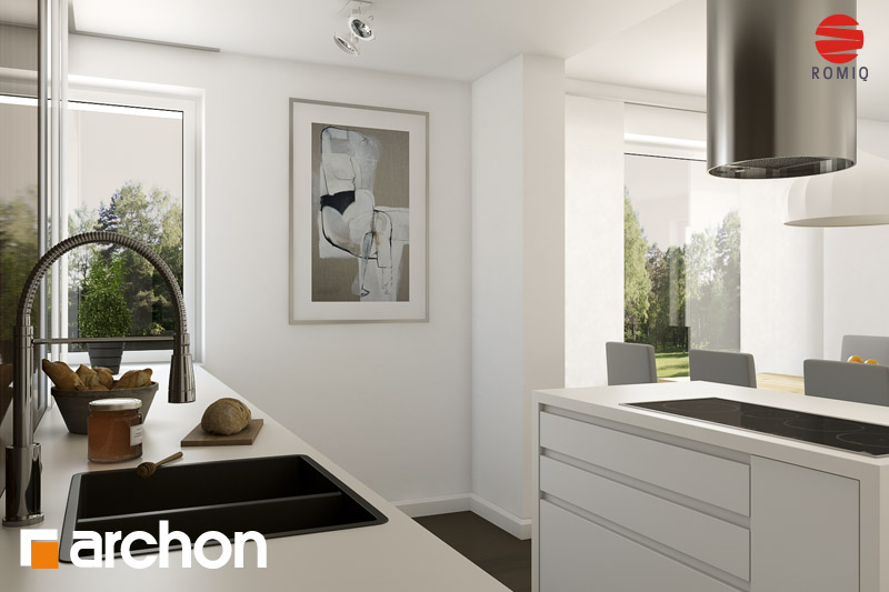 Проект будинку ARCHON+ Будинок в гейджею ver.2 аранжування кухні 2 від 3
