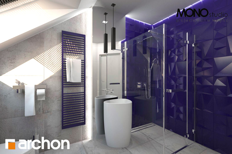 Проект будинку ARCHON+ Будинок в гейджею ver.2 візуалізація ванни (візуалізація 1 від 2)