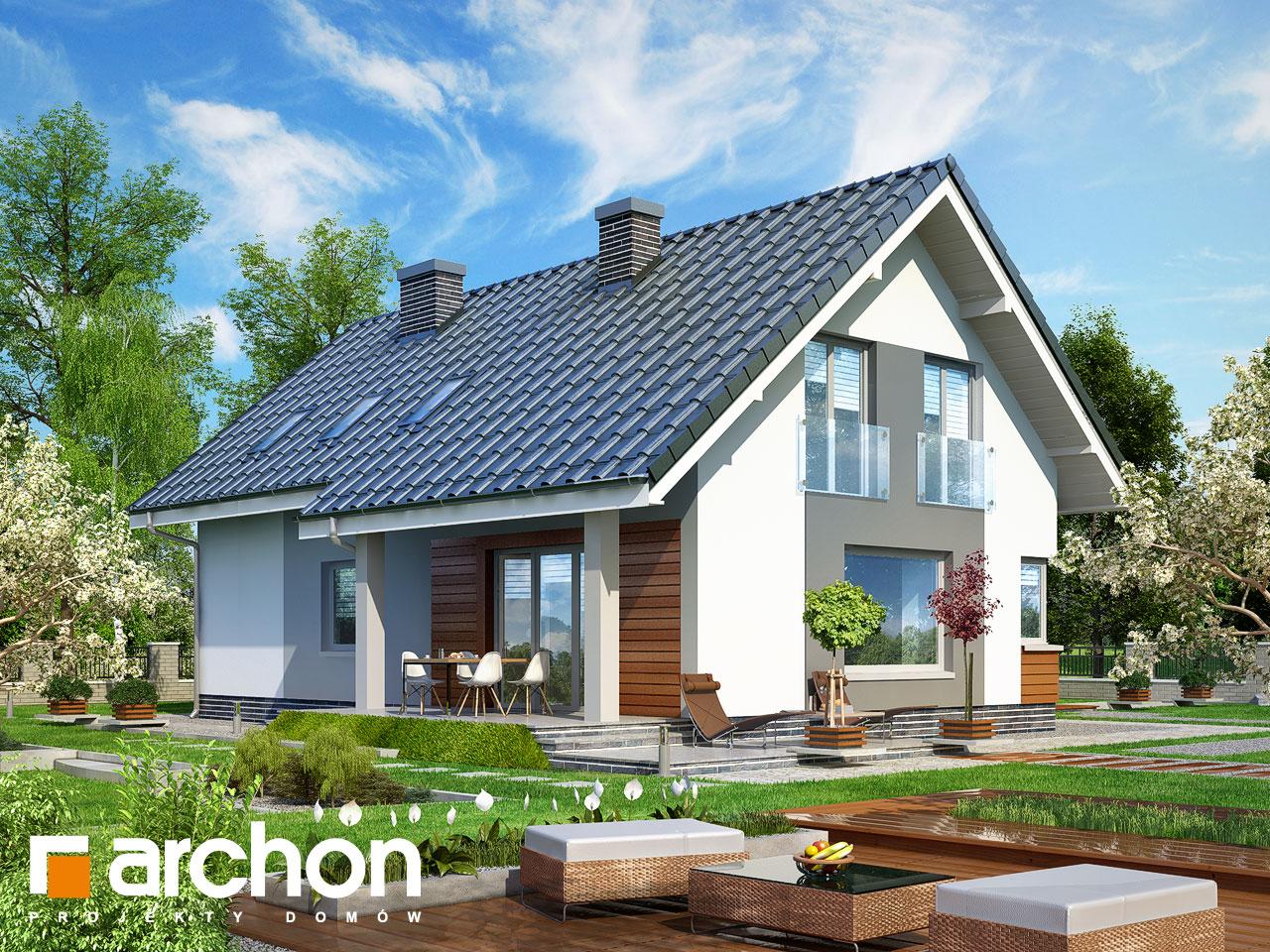Проект будинку ARCHON+ Будинок в гейджею ver.2 Вид 2