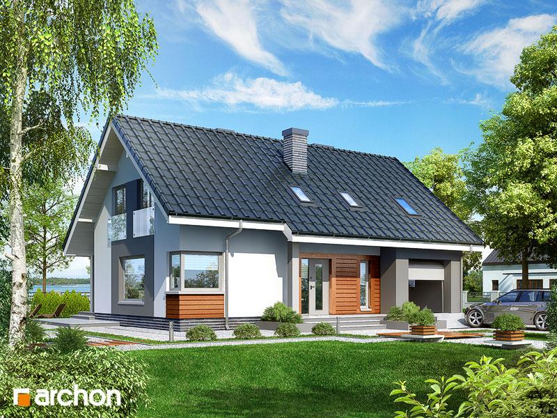 Проект будинку ARCHON+ Будинок в гейджею ver.2 Вид 1