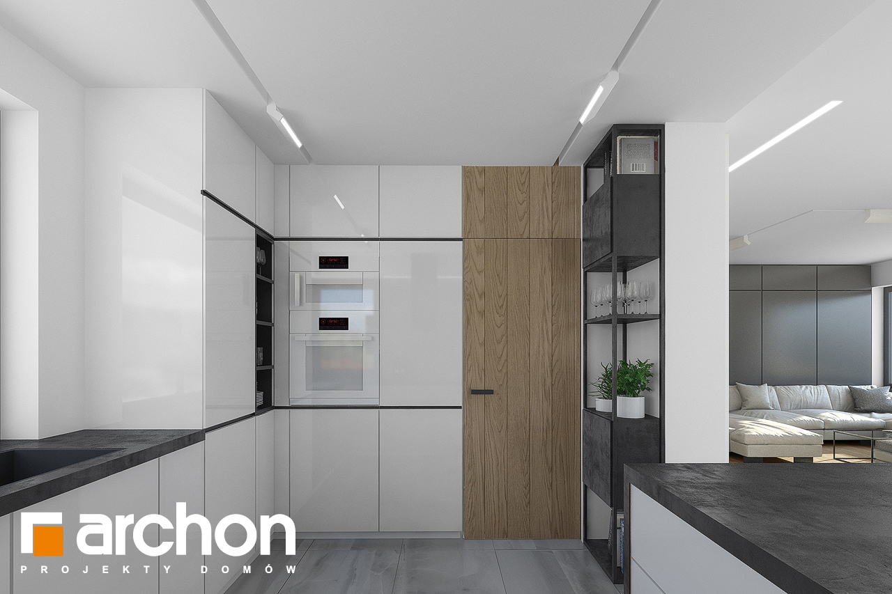 Проект будинку ARCHON+ Будинок в малинівці 7 візуалізація кухні 1 від 3