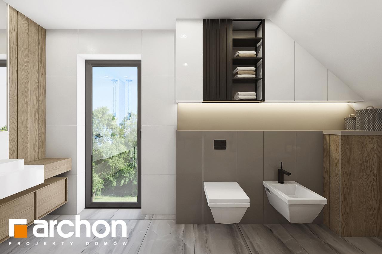 Проект будинку ARCHON+ Будинок в малинівці 7 візуалізація ванни (візуалізація 3 від 2)