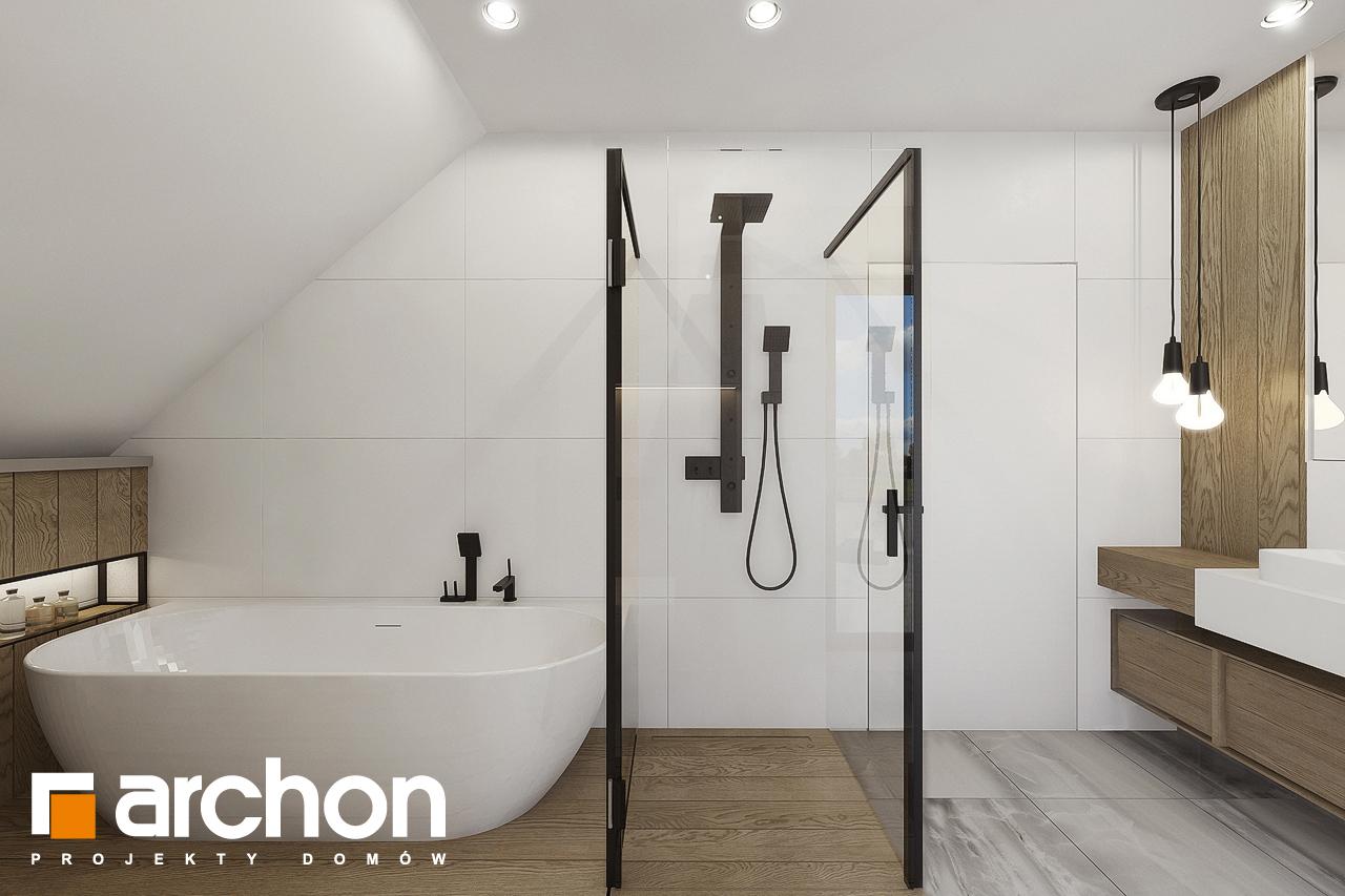 Проект будинку ARCHON+ Будинок в малинівці 7 візуалізація ванни (візуалізація 3 від 3)
