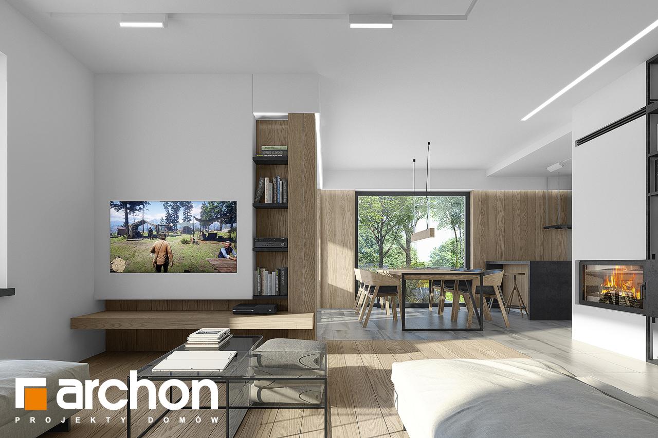 Проект будинку ARCHON+ Будинок в малинівці 7 денна зона (візуалізація 1 від 2)