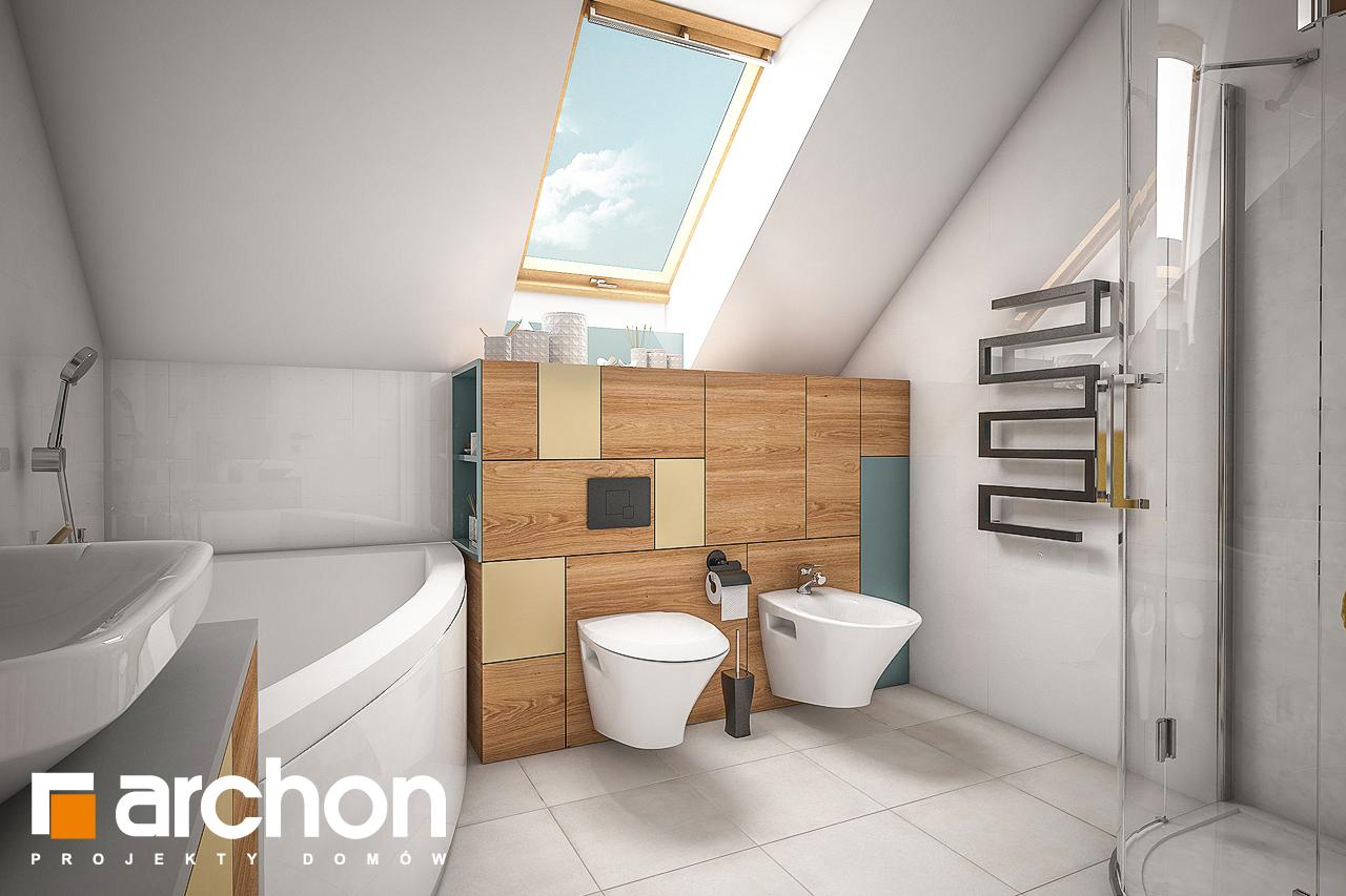 Проект будинку ARCHON+ Будинок в журавках 4 візуалізація ванни (візуалізація 3 від 1)