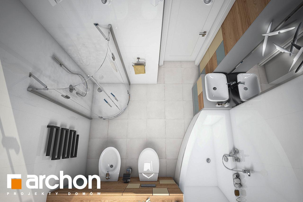 Проект будинку ARCHON+ Будинок в журавках 4 візуалізація ванни (візуалізація 3 від 4)