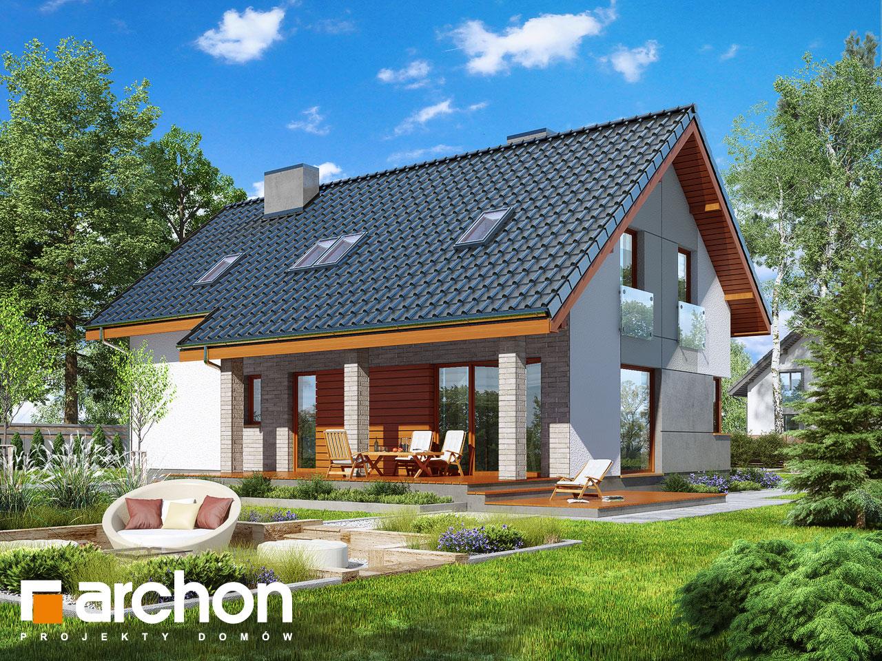 Проект будинку ARCHON+ Будинок в журавках 4 Вид 2