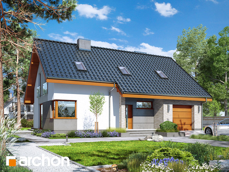 Проект дома ARCHON+ Дом в журавках 4 Вид 1