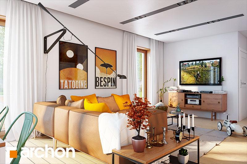 Проект дома ARCHON+ Дом в журавках 4 дневная зона (визуализация 1 вид 1)