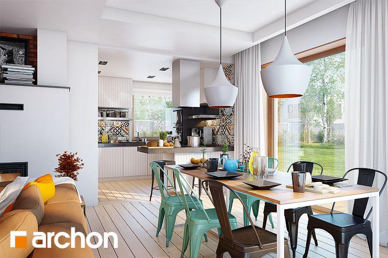 Проект дома ARCHON+ Дом в журавках 4 дневная зона (визуализация 1 вид 4)