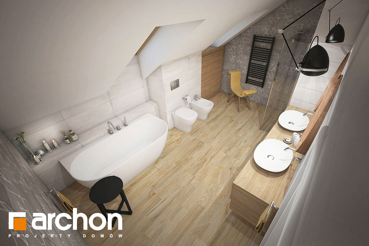 Проект будинку ARCHON+ Будинок в кортланді (Г2) візуалізація ванни (візуалізація 3 від 4)