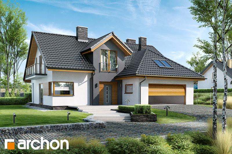 Проект будинку ARCHON+ Будинок в кортланді (Г2) стилізація 5