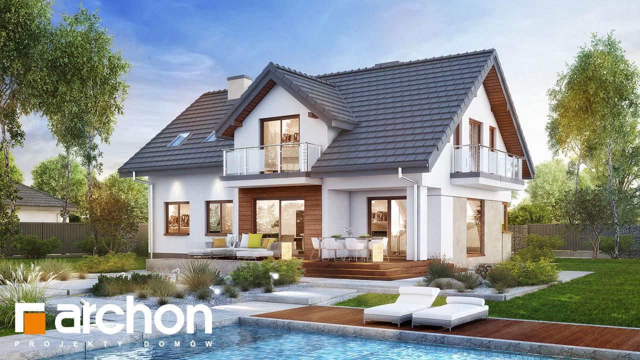 Проект будинку ARCHON+ Будинок в кортланді (Г2) Вид 2