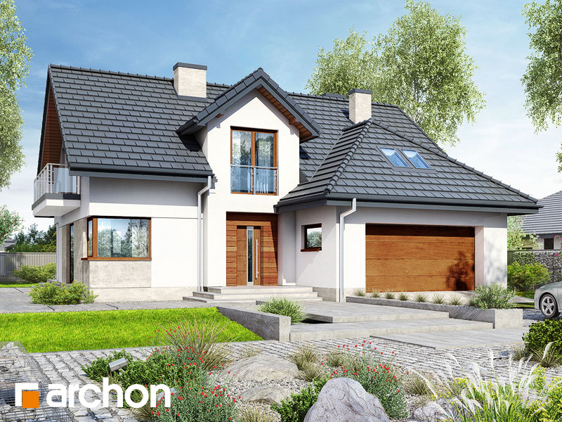 Проект будинку ARCHON+ Будинок в кортланді (Г2) Вид 1