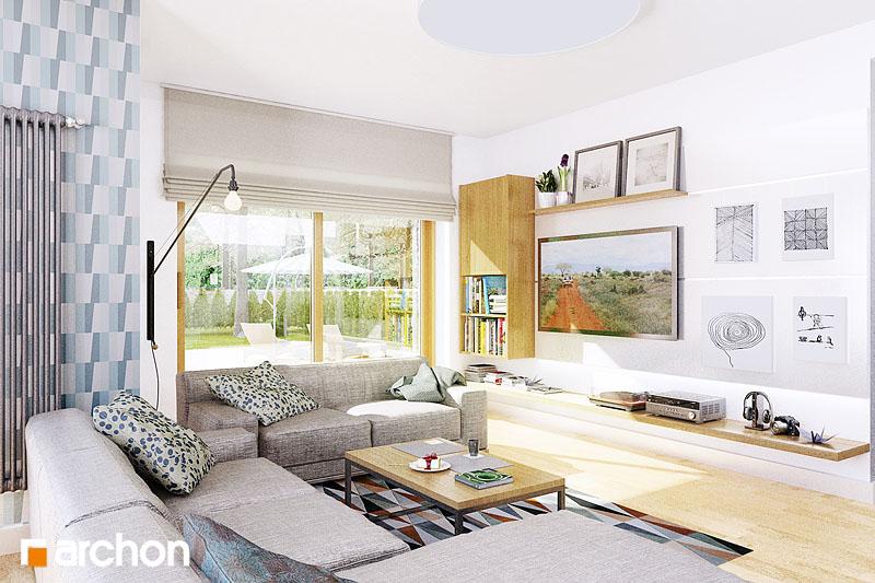 Проект будинку ARCHON+ Будинок в кортланді (Г2) денна зона (візуалізація 1 від 3)