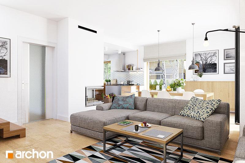 Проект будинку ARCHON+ Будинок в кортланді (Г2) денна зона (візуалізація 1 від 4)
