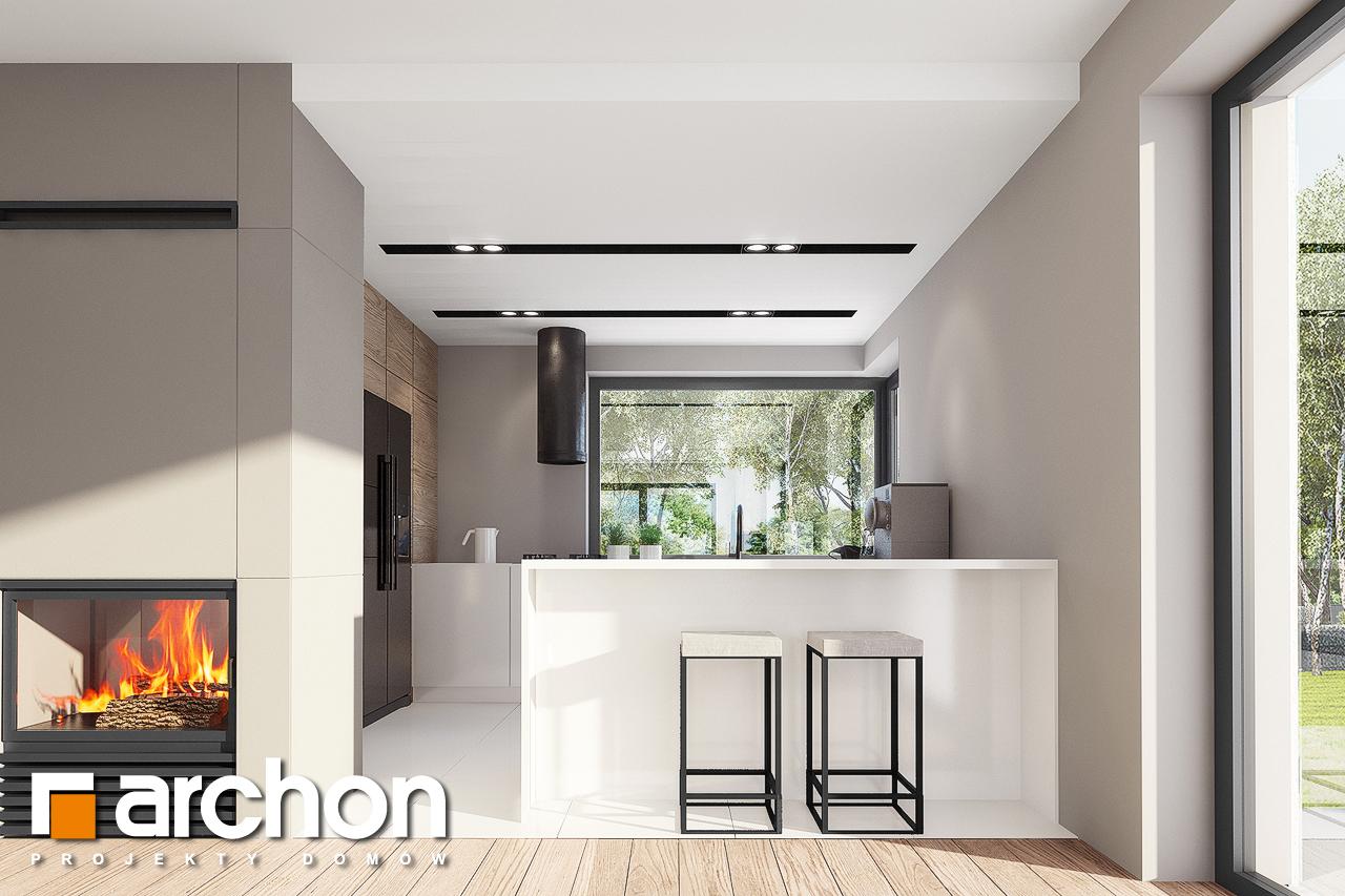 Проект будинку ARCHON+ Будинок в комміфорах 2 візуалізація кухні 1 від 1