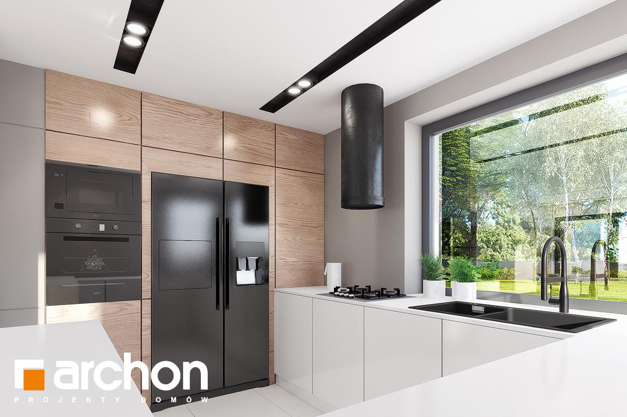 Проект будинку ARCHON+ Будинок в комміфорах 2 візуалізація кухні 1 від 2