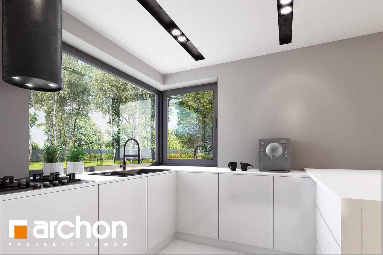 Проект будинку ARCHON+ Будинок в комміфорах 2 візуалізація кухні 1 від 3