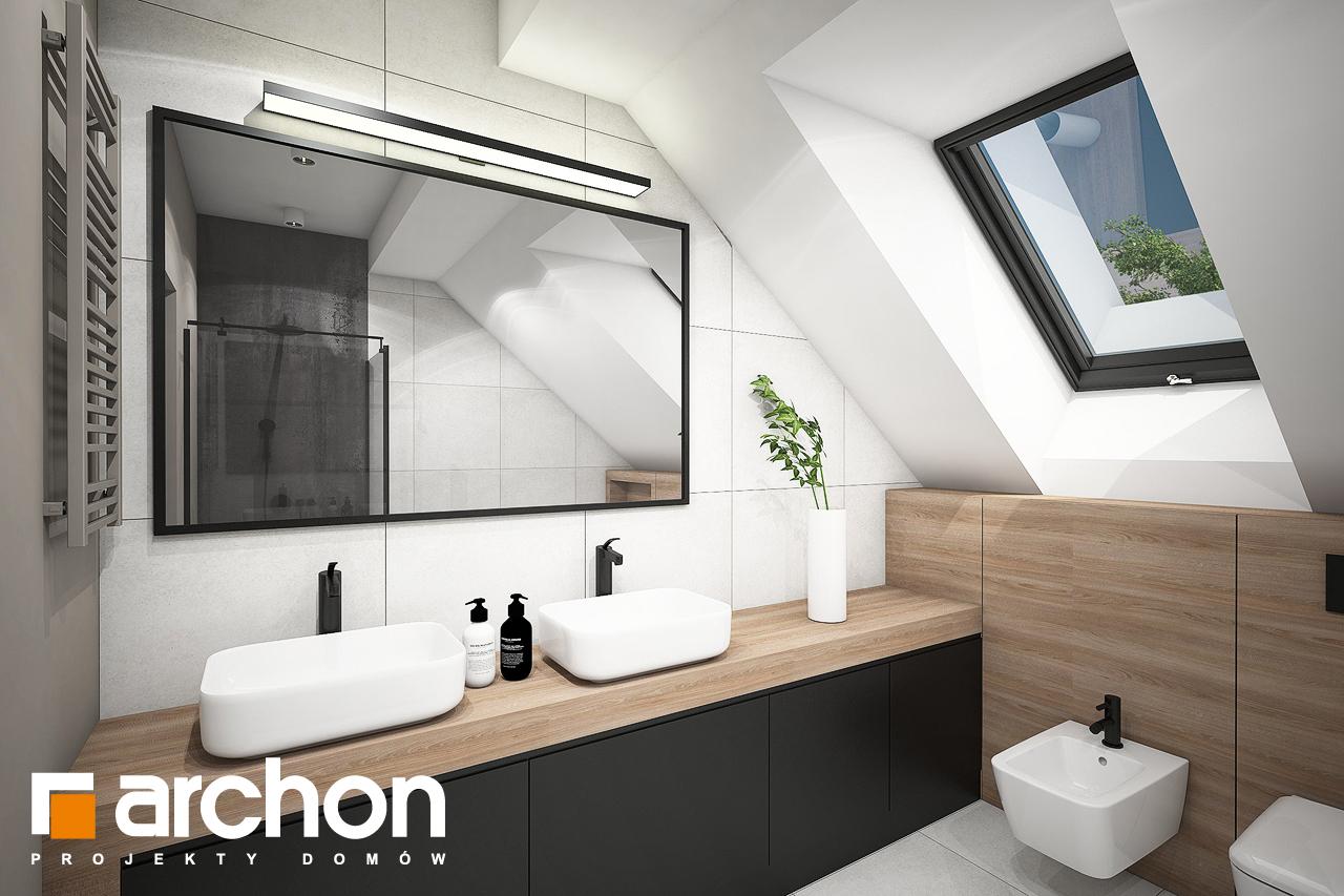 Проект будинку ARCHON+ Будинок в комміфорах 2 візуалізація ванни (візуалізація 3 від 1)
