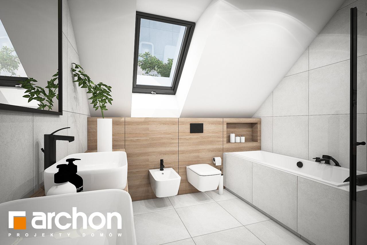 Проект будинку ARCHON+ Будинок в комміфорах 2 візуалізація ванни (візуалізація 3 від 2)