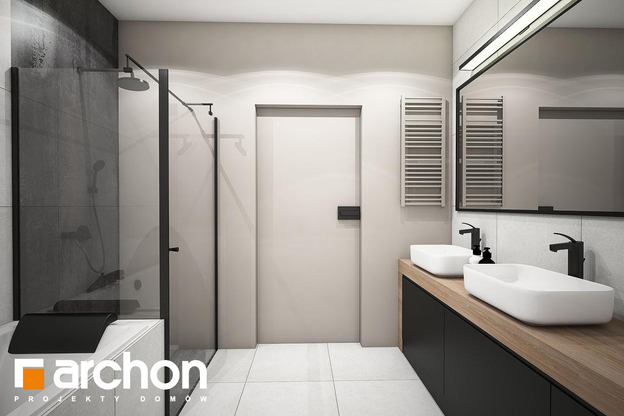Проект будинку ARCHON+ Будинок в комміфорах 2 візуалізація ванни (візуалізація 3 від 3)
