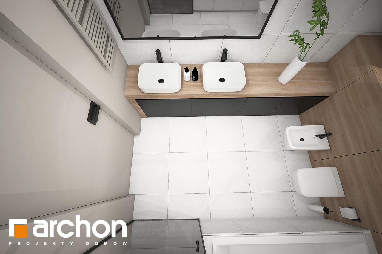 Проект будинку ARCHON+ Будинок в комміфорах 2 візуалізація ванни (візуалізація 3 від 4)