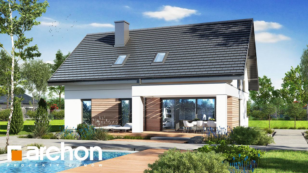 Проект будинку ARCHON+ Будинок в комміфорах 2 Вид 2