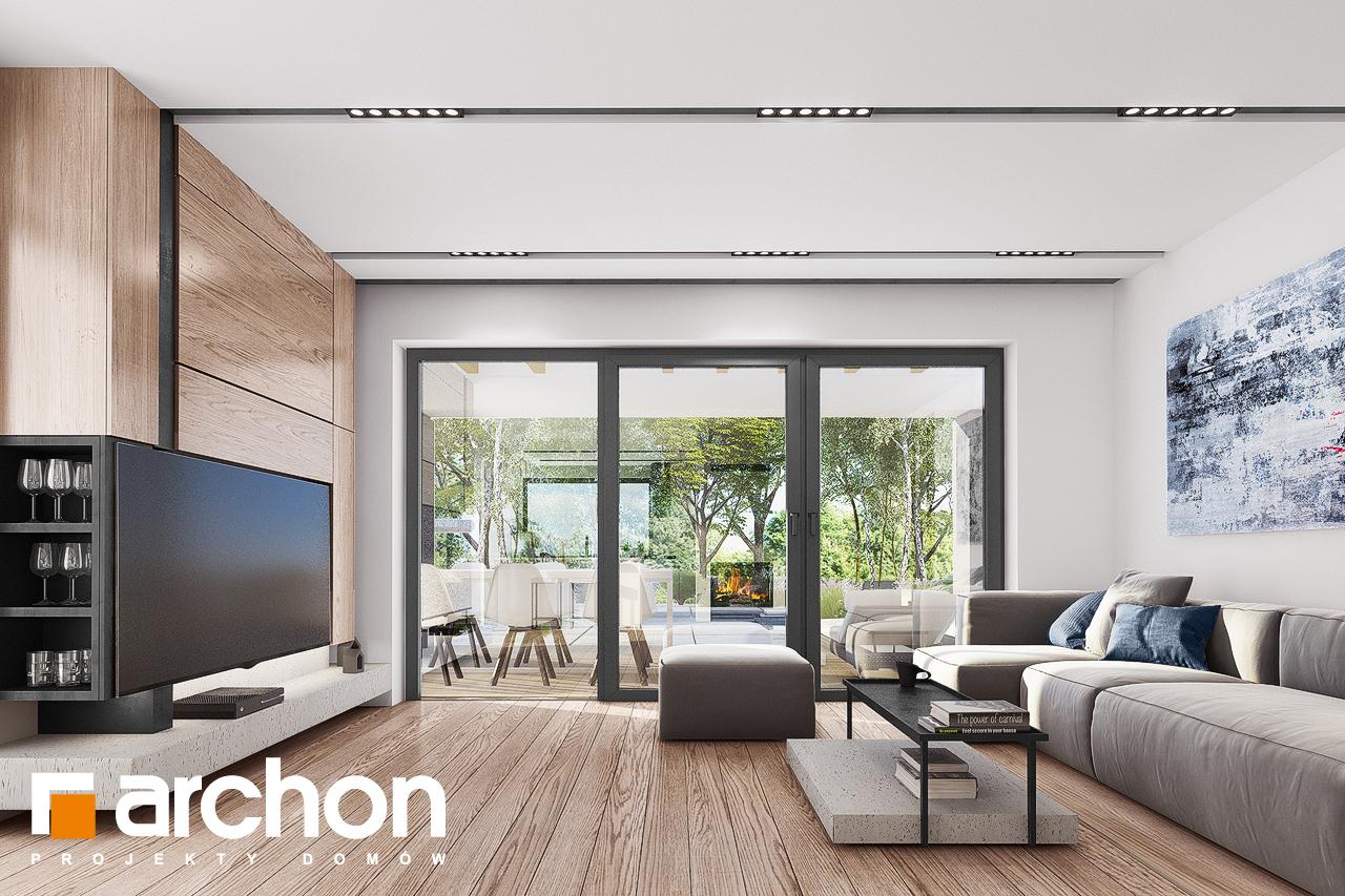 Проект будинку ARCHON+ Будинок в комміфорах 2 денна зона (візуалізація 1 від 1)