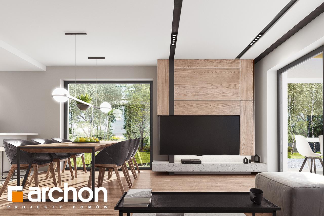 Проект будинку ARCHON+ Будинок в комміфорах 2 денна зона (візуалізація 1 від 2)