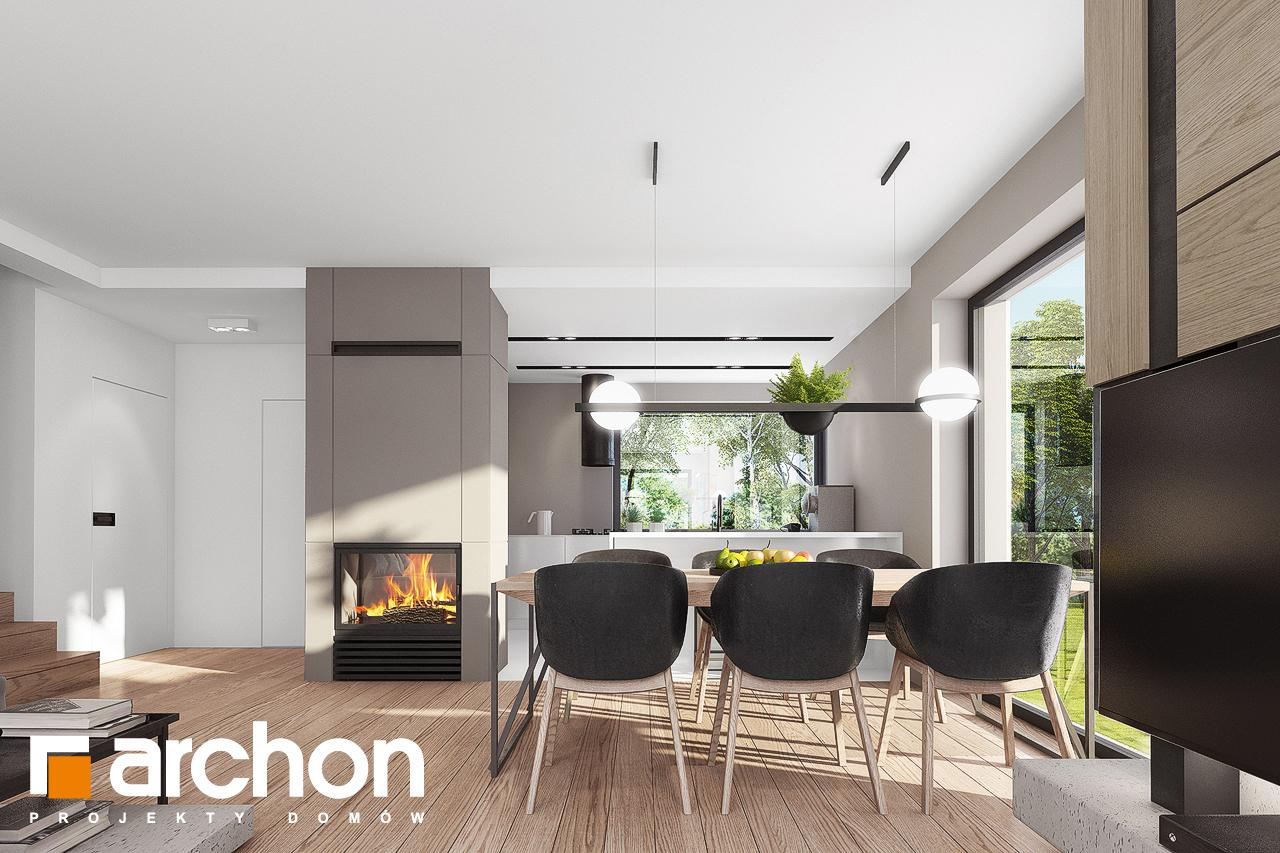 Проект будинку ARCHON+ Будинок в комміфорах 2 денна зона (візуалізація 1 від 3)