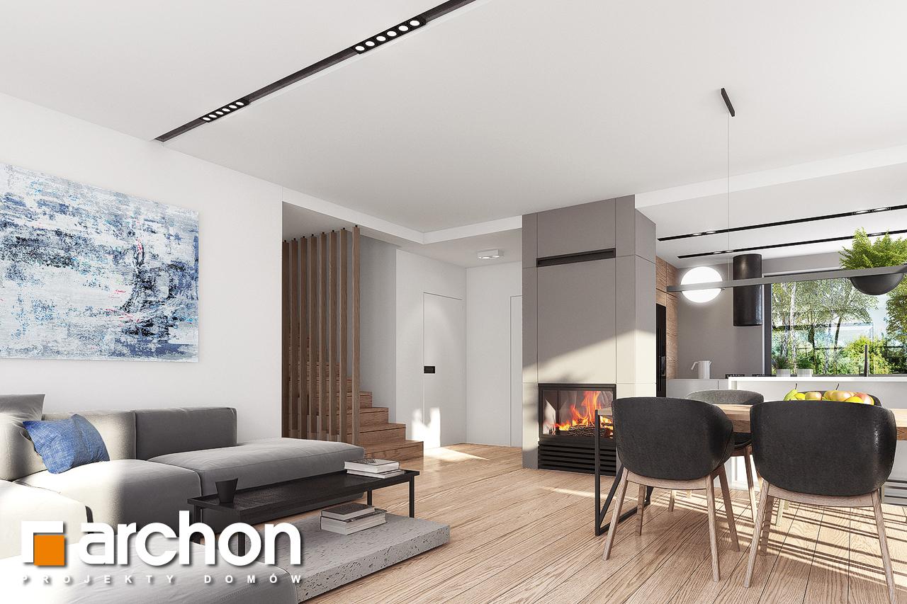Проект будинку ARCHON+ Будинок в комміфорах 2 денна зона (візуалізація 1 від 5)
