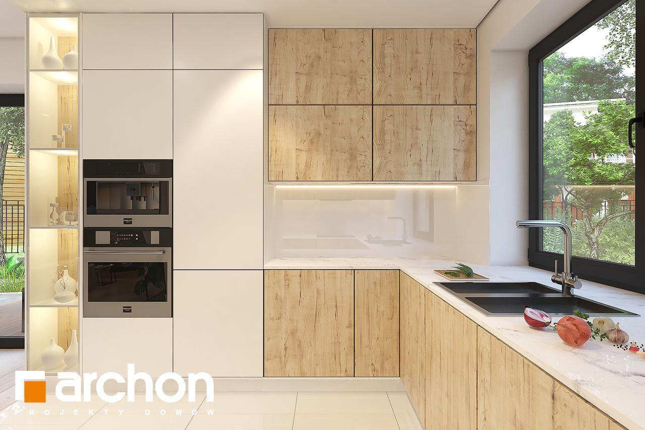 Проект будинку ARCHON+ Будинок в малинівці 11 (Г) візуалізація кухні 1 від 2