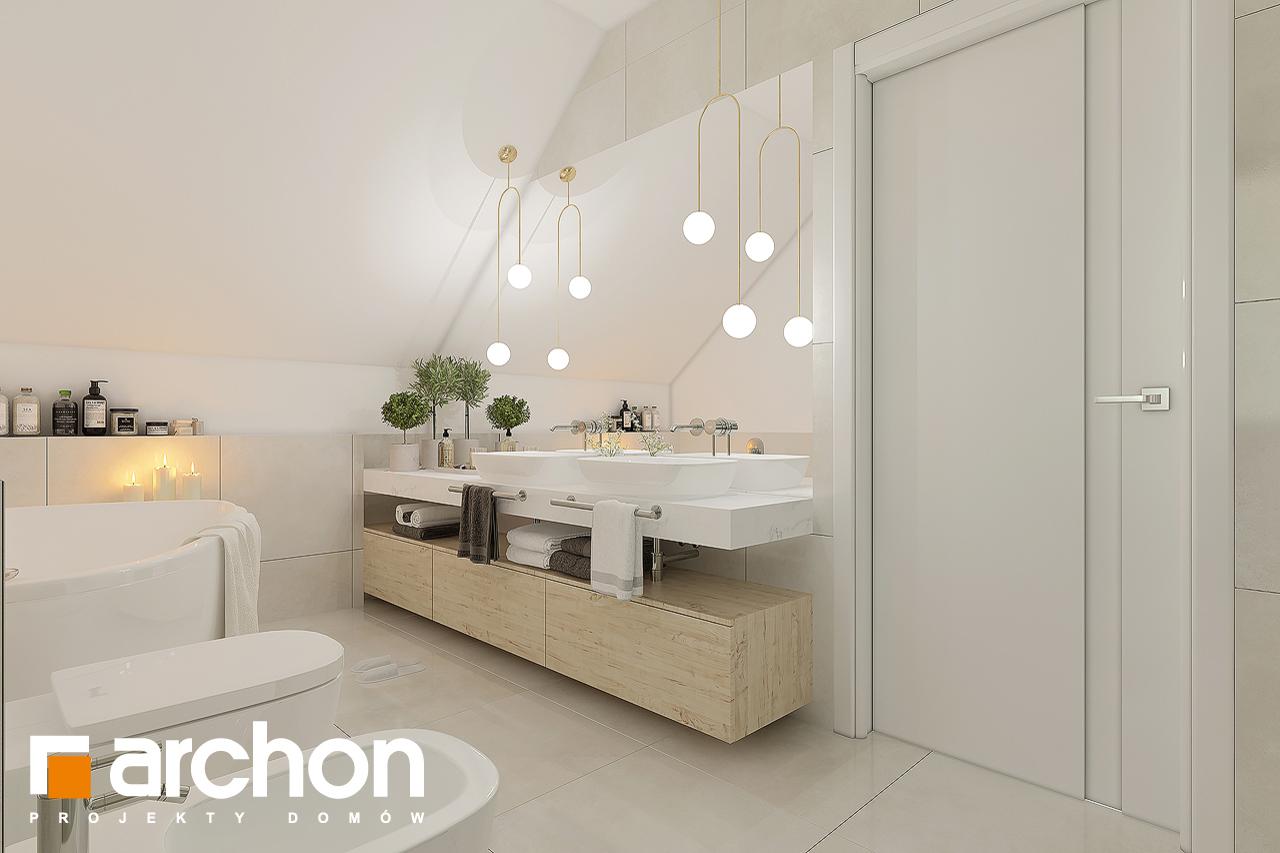 Проект будинку ARCHON+ Будинок в малинівці 11 (Г) візуалізація ванни (візуалізація 3 від 3)