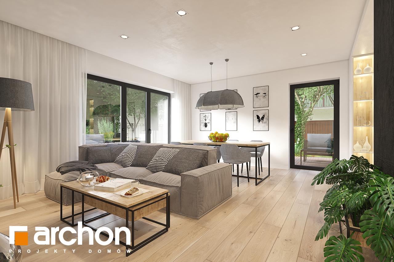 Проект будинку ARCHON+ Будинок в малинівці 11 (Г) денна зона (візуалізація 1 від 1)