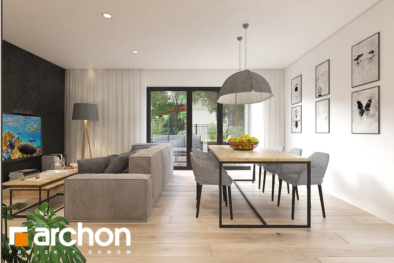 Проект будинку ARCHON+ Будинок в малинівці 11 (Г) денна зона (візуалізація 1 від 2)