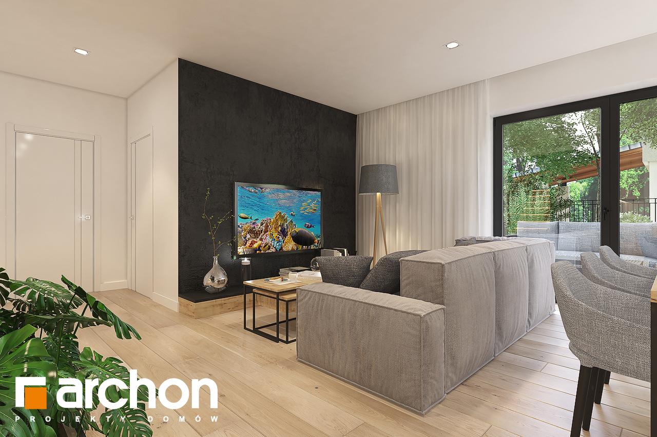 Проект будинку ARCHON+ Будинок в малинівці 11 (Г) денна зона (візуалізація 1 від 3)