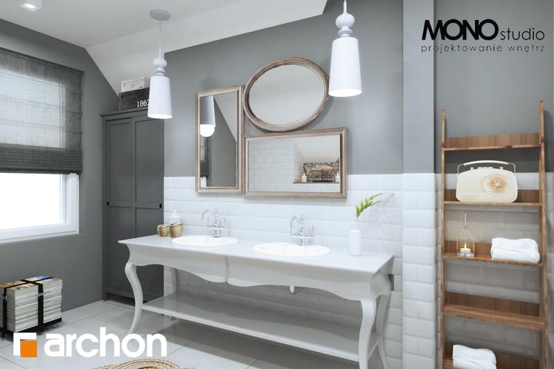 Проект будинку ARCHON+ Будинок в мірабеллі 2 вер.2 візуалізація ванни (візуалізація 1 від 2)