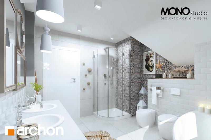 Проект будинку ARCHON+ Будинок в мірабеллі 2 вер.2 візуалізація ванни (візуалізація 1 від 3)