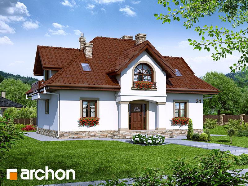 Проект будинку ARCHON+ Будинок в мірабеллі 2 вер.2 Вид 1